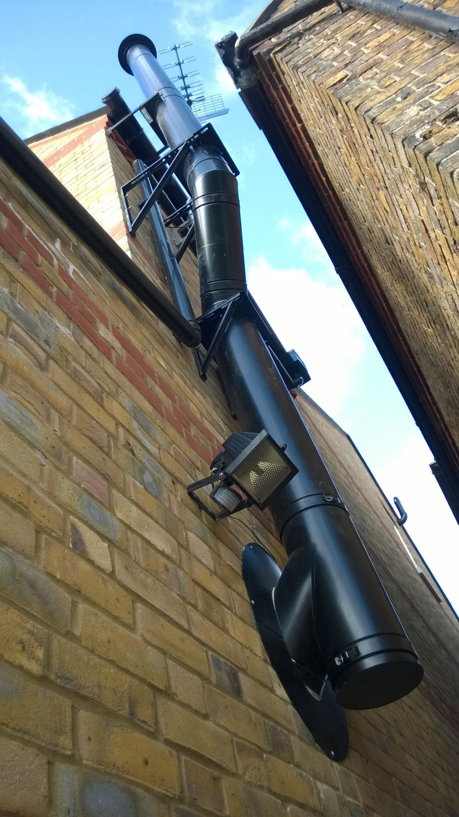 Twin wall insulated chimney system fixed price for Twin chimneys